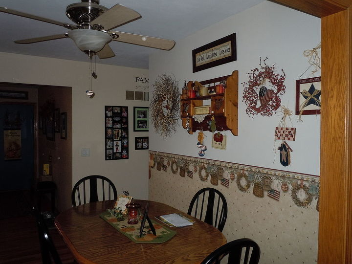 My dining area opposite my galley kitchen and hallway