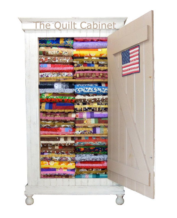 I love this Cabinet...I designed it and had a friend make it for me...http://magictouchandhergardens.wordpress.com/the-quilt-cabinet/