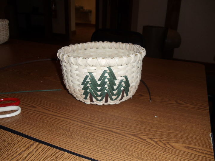 basket weaving class i took and basket i made 11 3 12, crafts, This is my finished basket and the size it should be I was so excited it came out so nice and even I decided to wrap the top twice to have the X affect like it better than just once