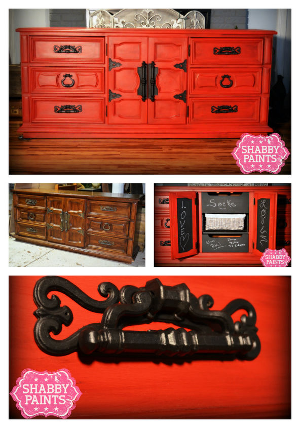 pretty woman, painted furniture, Pretty Woman Betsy Ross Red Black reVAX