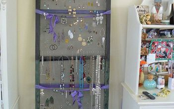 an old screen presents a unique opportunity to repurpose, repurposing upcycling, Hang earrings and necklaces on an old screen door