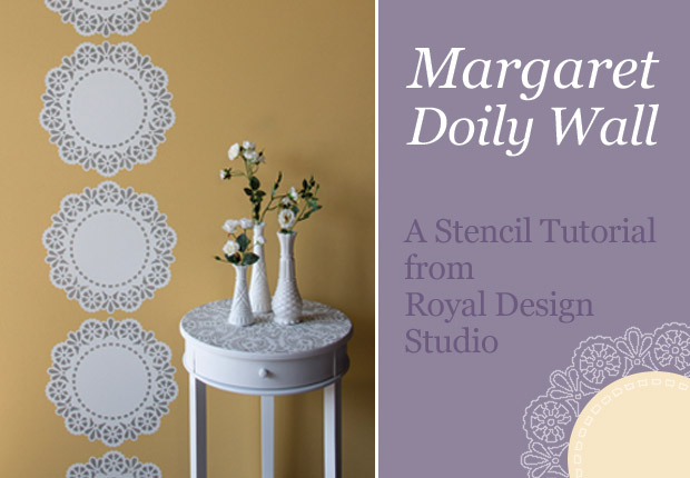 how to stencil with lace doily stencils, painting, wall decor, How to Stencil our Margaret Lace Doily as a Wall motif