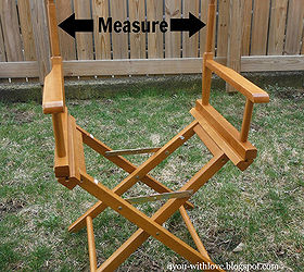 Diy Director S Chair Canvas, Outdoor Furniture, Outdoor Living, Painted  Furniture, Measure