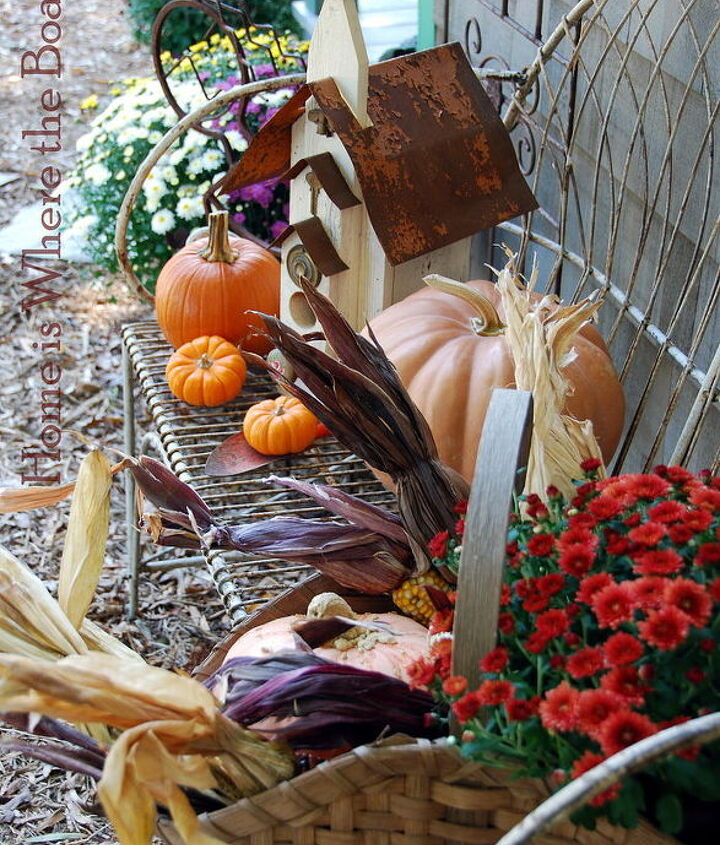 potting shed fall dressing, gardening, outdoor living