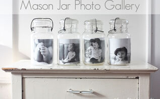 mason jar photo gallery, crafts, home decor, mason jars, repurposing upcycling, Mason Jar Photo Gallery