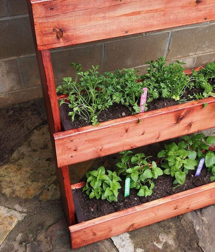 Then we planted our herbs.