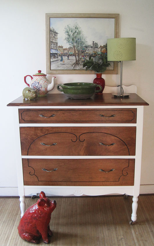 q vintage maple dresser should we have went with black, painted furniture