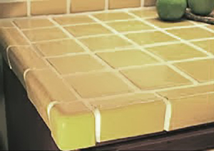 painted tile countertops, concrete countertops, countertops, diy, kitchen backsplash, kitchen design, painting