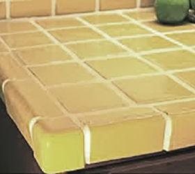 Painted Tile Countertops, Concrete Countertops, Countertops, Diy, Kitchen  Backsplash, Kitchen Design