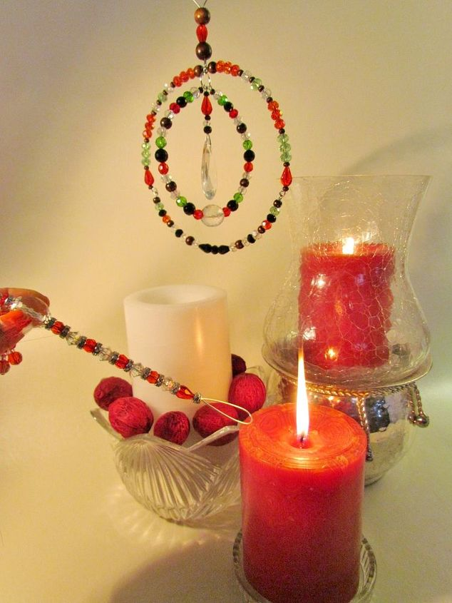 candle snuffer with dingle dangle bling, crafts, seasonal holiday decor