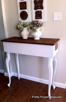 repurposed rustic entry table, foyer, home decor, painted furniture, repurposing upcycling, rustic furniture