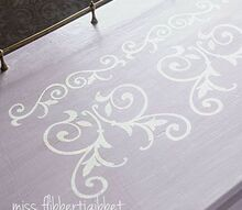 a girly girl desk makeover, painted furniture, Powder River Teton and MMS Waxes