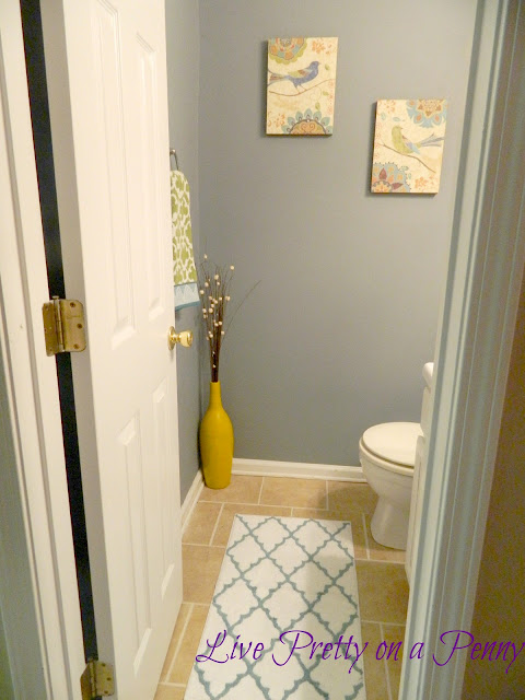 My half bathroom after