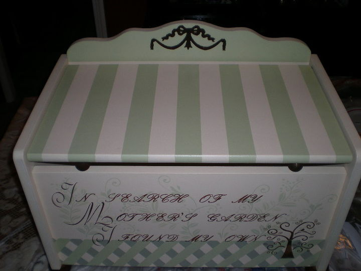 toy box, painted furniture