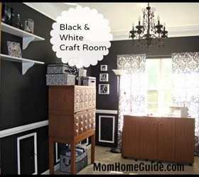 Dining Room Turned Black And White Craft Room, Craft Rooms, Home Decor,  Another