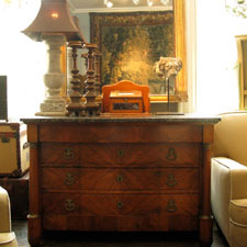 decorative antiques at brownrigg interiors antiques shop in tetbury, painted furniture, French Walnut Commode