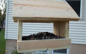 make a bird feeder for under 2, crafts, woodworking projects