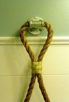 diy rope towel holder, crafts