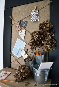 a cool cheater bulletin board build for non builders, crafts, shelving ideas, woodworking projects, A bulletin board with two ways to hang