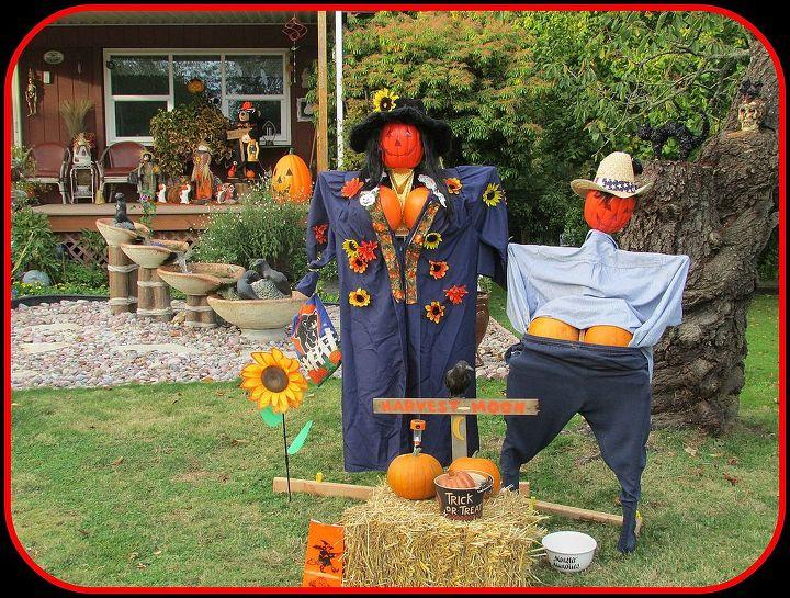 meet my harvest moon pumpkin people, curb appeal, gardening, halloween decorations, outdoor living, seasonal holiday decor, Harvest Moon Pumpkin People