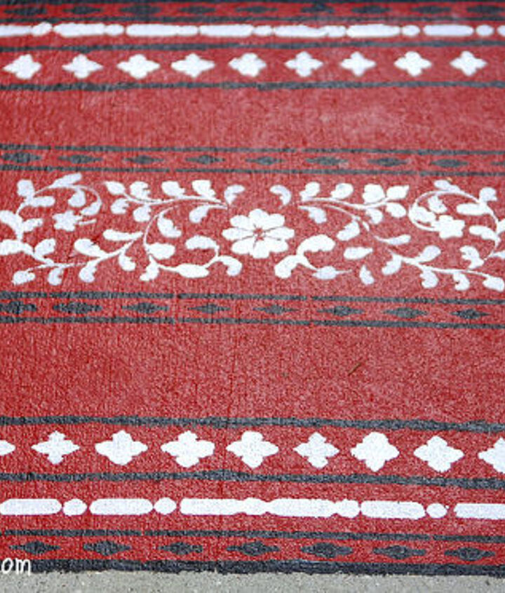 The little oriental rug that now welcomes guest when entering the pool area.