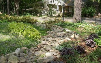 Dry Creek Bed Solves Drainage Problem From Street, Front Yard Atlanta
