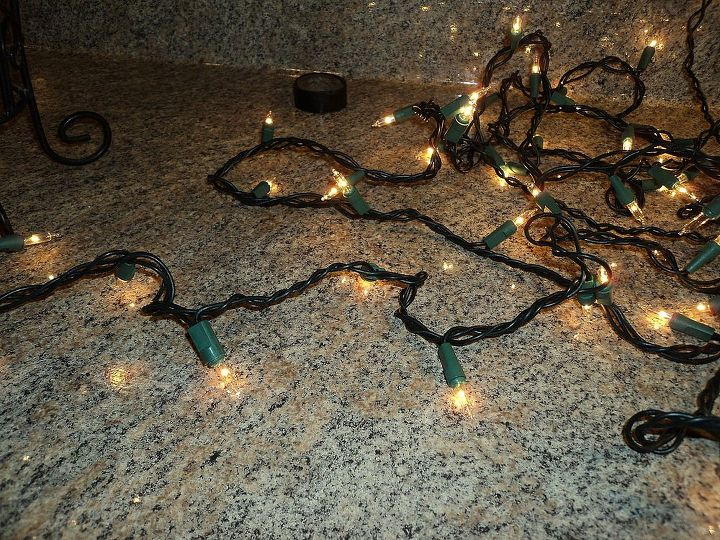 starry night light, christmas decorations, crafts, lighting, seasonal holiday decor, 4 Check your lights to make sure they are working I had to the set I used were out of my old Christmas box storage