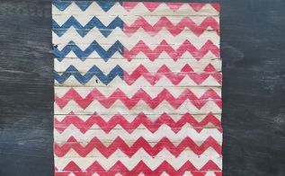 chevron american flag, crafts, patriotic decor ideas, seasonal holiday decor, Who needs stars and stripes when you can chevron 4th of July Chevron American Flag for my mantel