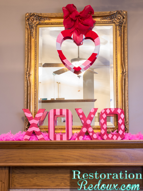 3-D Valentine's Day Letters