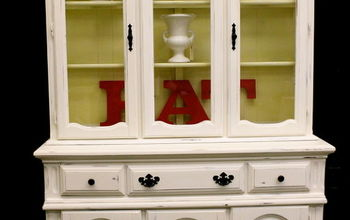 makeover a china hutch, painted furniture