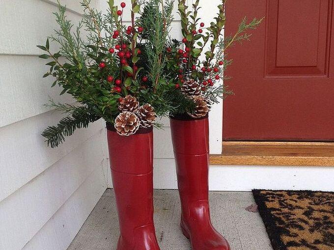 winter decor, decks, gardening, outdoor living, seasonal holiday decor
