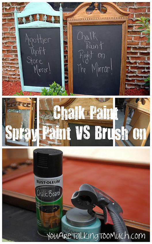 spray paint vs brush paint chalkboards, chalk paint, chalkboard paint, crafts, painting
