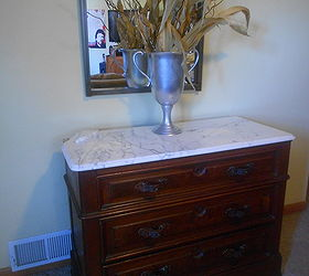 I Inherited This Dresser With The Marble Top That Was Damaged Years Ago.