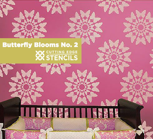 Butterfly Blooms Stencils Fly onto your Walls | Hometalk