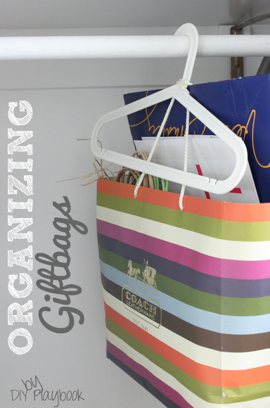 organizing giftbags for free, organizing, Organizing your gift bags by putting them in a large retail bag and hanging them in the closet