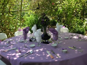 Love the centerpieces created by the mother of the groom.