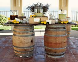 country time lemonade hits the spot, outdoor living, Love the barrels used for this Country Style Lemonade station