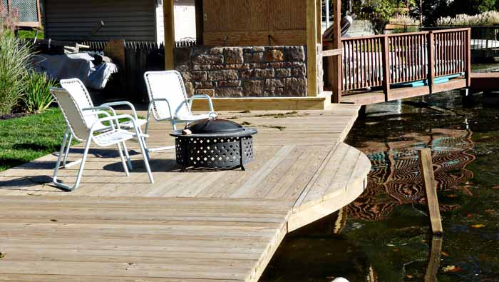 A new deck was added