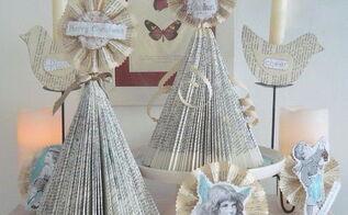 diy vintage shabby shic christmas tree christmas ornaments, repurposing upcycling, seasonal holiday d cor