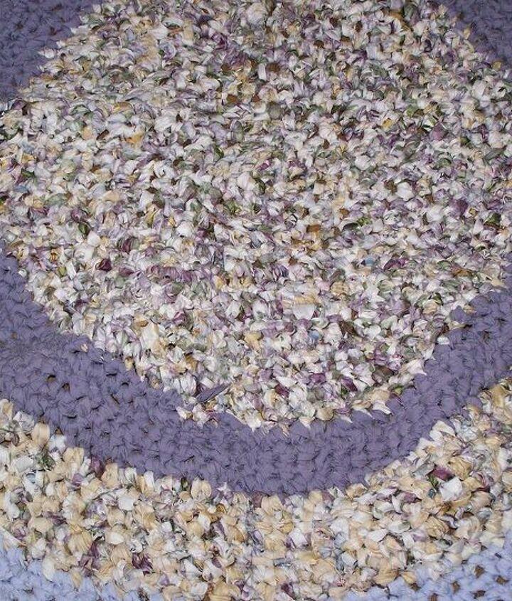 hand made rag rug, crafts, reupholster