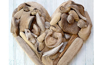driftwood heart art a tutorial, crafts, seasonal holiday decor, valentines day ideas