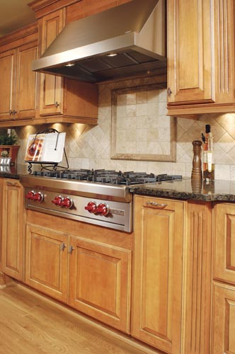 High-end appliances were a must have for this client's remodel. They loved to cook for their family & guests!