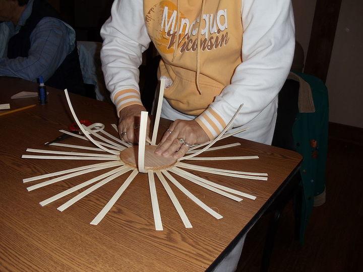 basket weaving class i took and basket i made 11 3 12, crafts