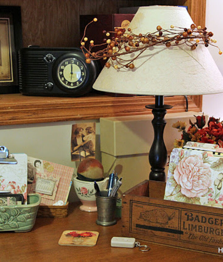 vintage office decor on a budget, craft rooms, home decor, home office