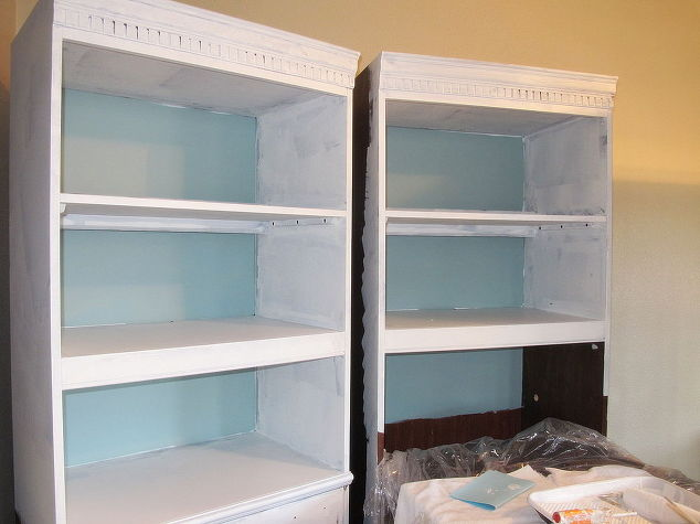 painting shelves ideasGiving old bookshelves a new look with paint  Hometalk
