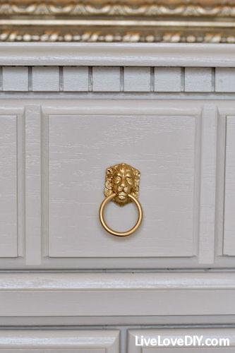Add our lion head ring pull... http://www.dlawlesshardware.com/lionheaddesr.html