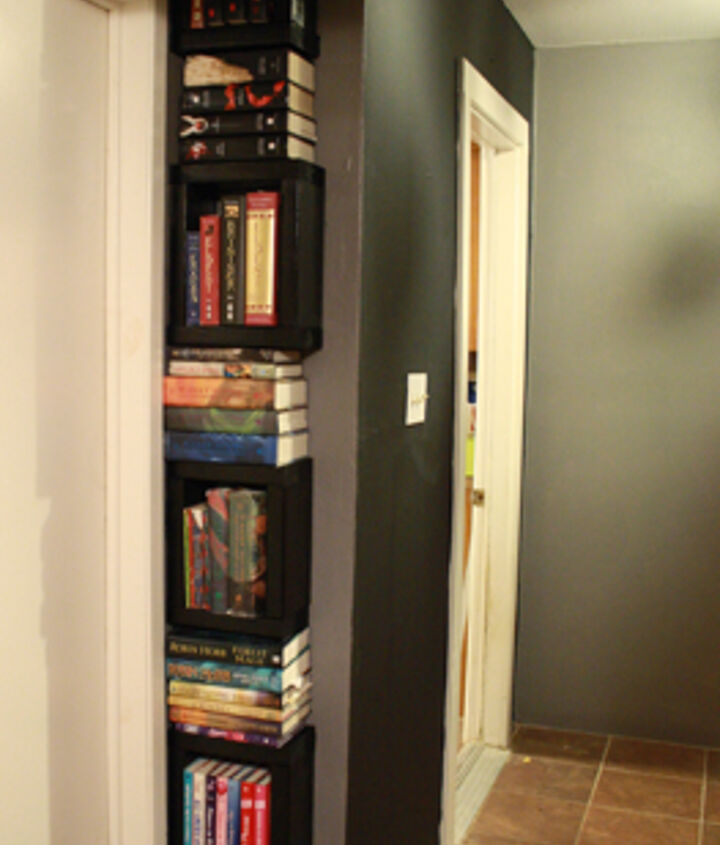 $10 book tower from 2x6's