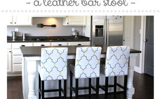 learn how to stencil a leather bar stool, painted furniture
