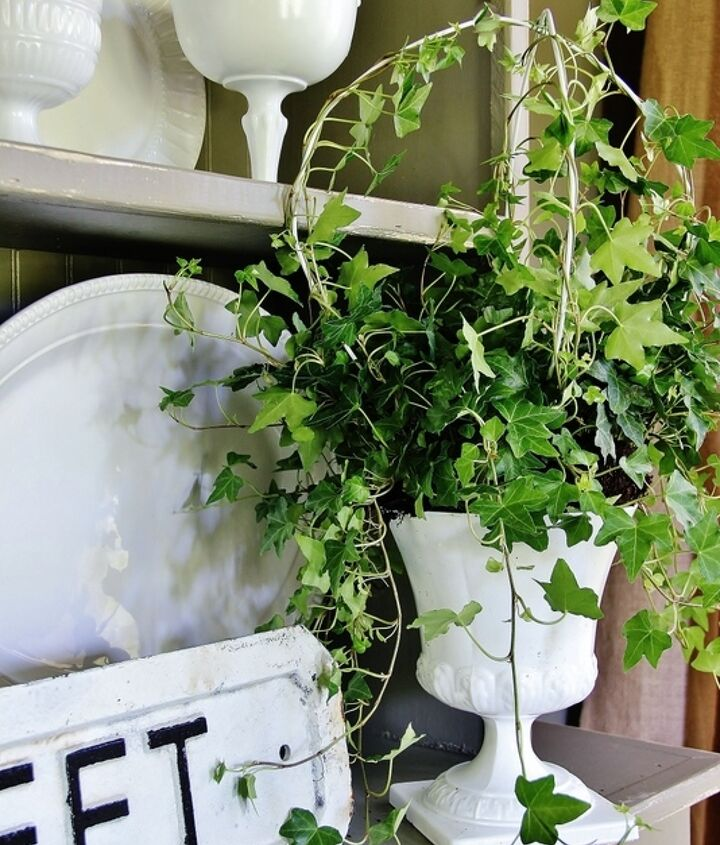 Create a topiary using coat hangers and ivy.  It is such a fun easy project that takes under 30 minutes!