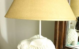 spray painted lampshade, crafts, lighting, painting, One lamp with it s new spray painted shade